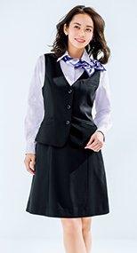 Aラインスカート ミニヘリンボーン 36-AS2302