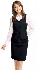 51550 en joie(アンジョア) ウールタッチな肌触りで上質感あるプチプラのタイトスカート 無地 93-51550