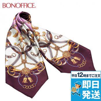 BA9124 BONMAX エレガントさを引き立てるオーナメント柄 スカーフ