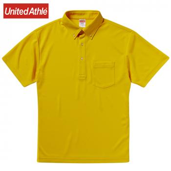 ドライアスレチックポロシャツ(ボタンダウン)(ポケット付)(4.1オンス)