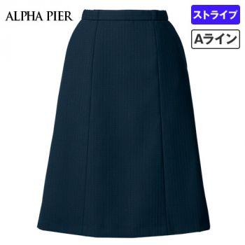 AR3882 アルファピア Aラインスカート ドットストライプ(ストレッチ)