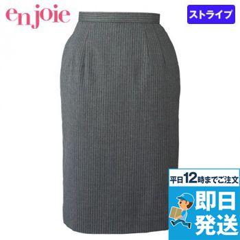 en joie(アンジョア) 51490 ラベンダーストライプのストレッチで動きやすいスカート 93-51490