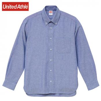 オックスフォードボタンダウンロングスリーブシャツ(男女兼用)