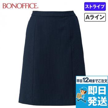 BONMAX LS2753 [春夏用]レジェール Aラインスカート ストライプ 36-LS2753
