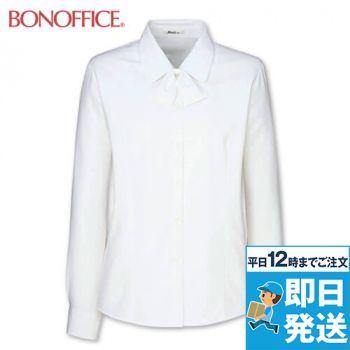 RB4149 BONMAX/リサール 繊細なダイヤ織りが美しい長袖ブラウス
