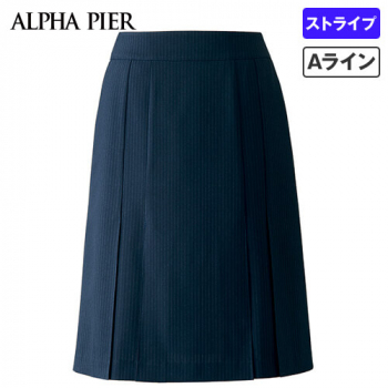 AR3669 アルファピア プリーツスカート ストライプ 40-AR3669