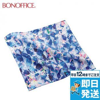BA9138 BONMAX アレンジしやすい華やかなこもれび柄ミニスカーフ