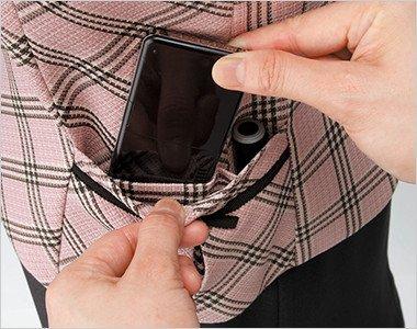 機能的なワイドポケット PHSと印鑑用のスペースをつけたワイドポケット。取り出しやすくて便利です。