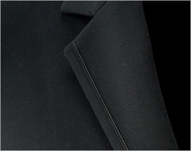 目立ちにくい黒のパイピングでワンランク上のジャケットに