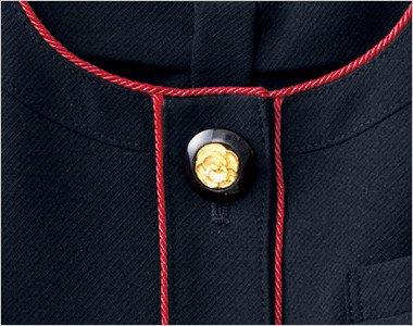 花びらのようなかわいいゴールドの黒ボタン
