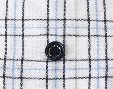 シルバーが輝く黒ボタン