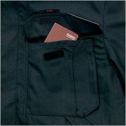 胸ポケット付