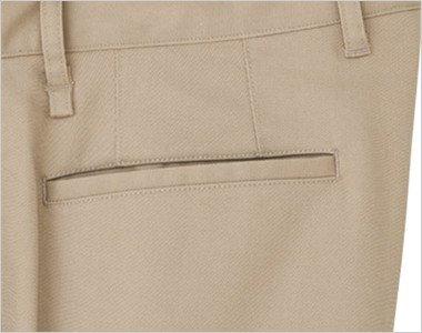 後ろ片玉縁ポケット