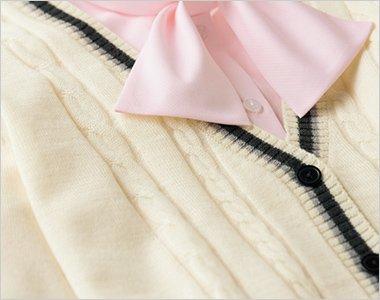 優しい雰囲気のケーブル編み