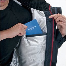 左 内ポケット(全天候型保温素材)