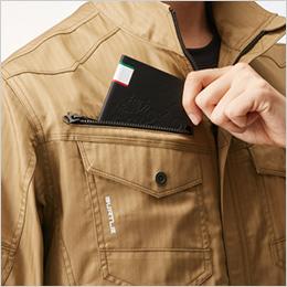 右胸 レベルブック収納ポケット