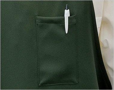 左胸 ペン差しポケット付き