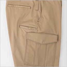 角度をつけて物が落ちにくいサイドポケット