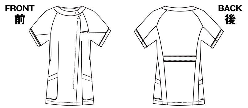 2012CR FOLK(フォーク) ナースチュニックのハンガーイラスト・線画