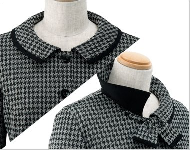首元のリボンは取り外し可能な2WAYスタイル。リボンを外してスッキリシンプルに着て頂けます。