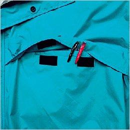左胸 フラップポケット付