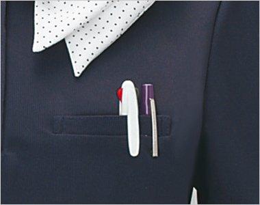 便利な左胸ポケット