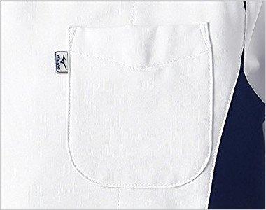 MIZUNOとランバードのロゴ入りの左胸箱型ポケット