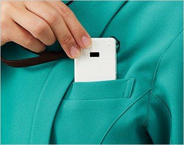 PHSの収納にも便利な左胸ポケット