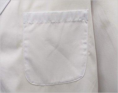 PHS、ペンなどが収納できる左胸ポケット