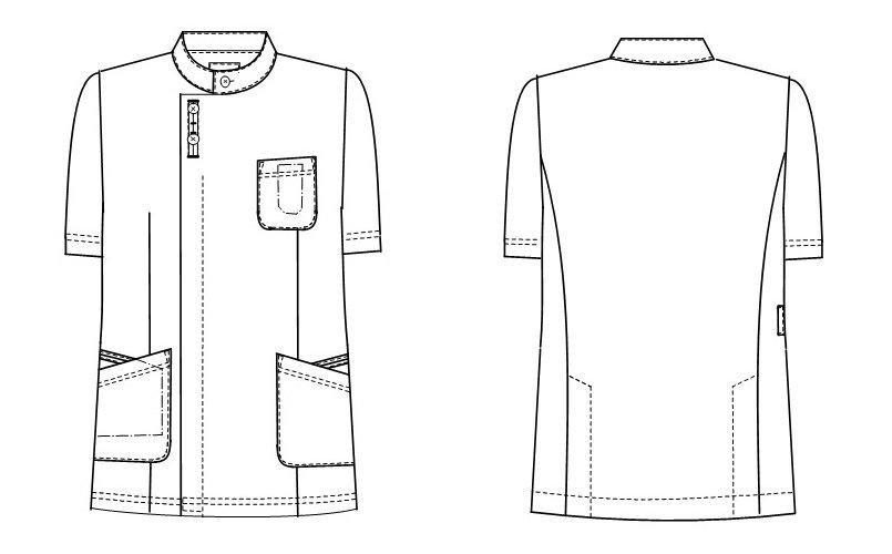 ナガイレーベンHO1637のハンガーイラスト・線画