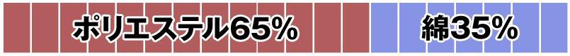ポリエステル65%・綿35%
