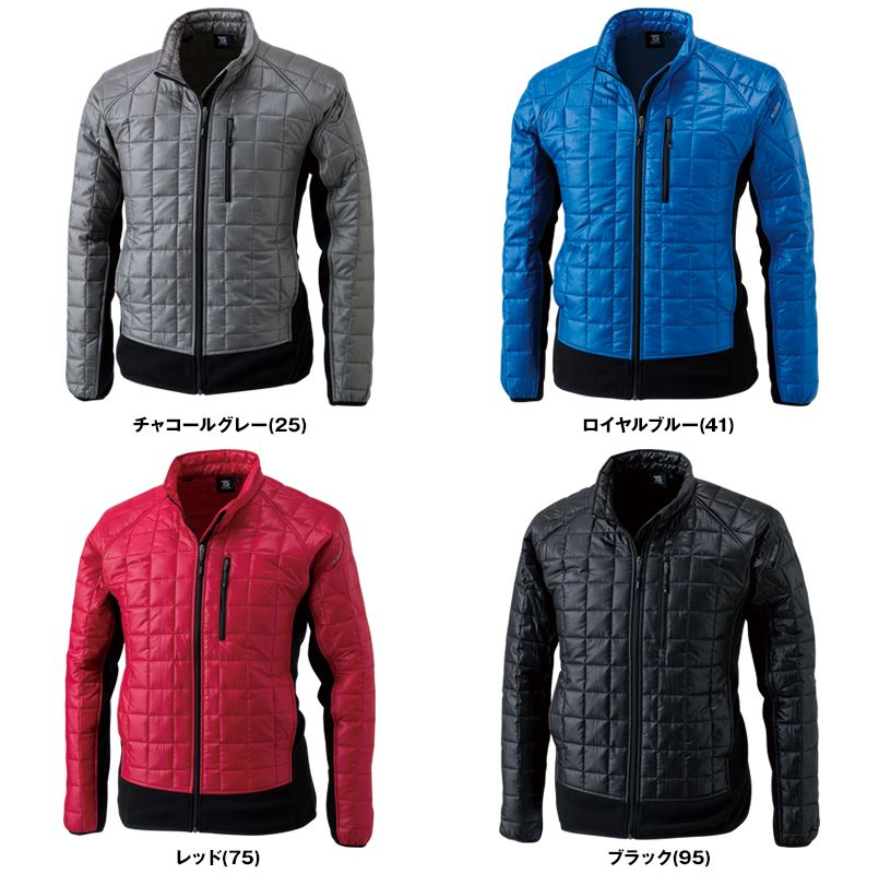 4226 TS DESIGN マイクロリップロングスリーブジャケット(男女兼用) 色展開