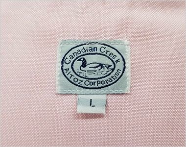 AZ7822 アイトス カナディアンクリーク 長袖T/Cオックスシャツ(男女兼用) カナディアンクリークのブランドネーム