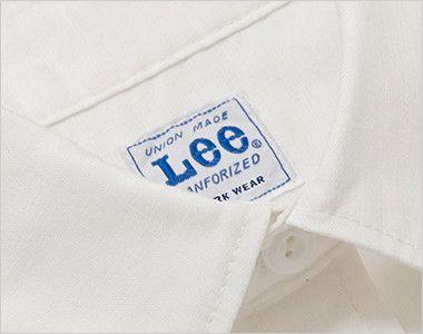 LCS46005 Lee シャンブレーシャツ/半袖(男性用) Leeワークウェアオリジナルネームタグ付き