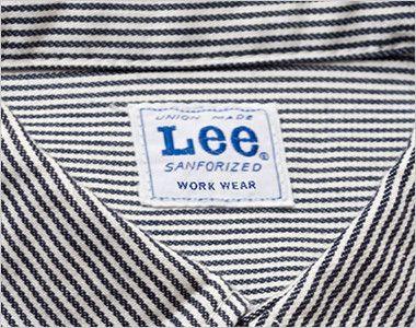 LWS43002 Lee ワーク半袖シャツ(女性用) Leeワークウェアオリジナルブランドネームタグ