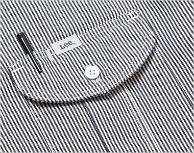 LWS43002 Lee ワーク半袖シャツ(女性用) ポケットにあるペン挿し口