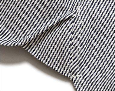 LWS43002 Lee ワーク半袖シャツ(女性用) Lee独特のガゼット(マチ付き)