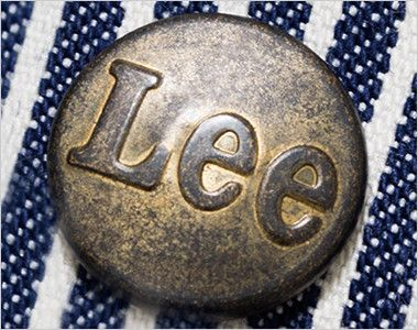 LWU39002 Lee オーバーオール(男女兼用) Leeロゴ入りのオリジナルボタン