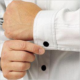 RS4902 ROCKY 長袖シャツ(男女兼用) バーバリー 前立てやカフスには、着脱しやすいドットボタン使用