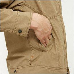 バートル 5101 [春夏用]リップクロスジャケット(綿100%)(男女兼用)  逆玉サイドポケット