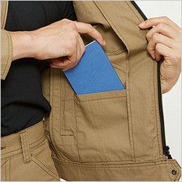 バートル 5101 [春夏用]リップクロスジャケット(綿100%)(男女兼用)  レベルブック内ポケット