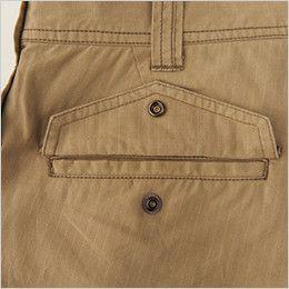 バートル 5106 [春夏用]パワーカーゴパンツ(綿100%) 裾上げNG(男女兼用)  ドットボタン止めピスフラップ