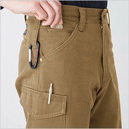 バートル 5202 ヴィンテージサテンカーゴパンツ(綿100%)(男女兼用)裾上げNG  ツインループ 右 ペンさし
