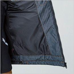 バートル 5240 ヘリンボーン防寒ジャケット(男女兼用) ドローコード