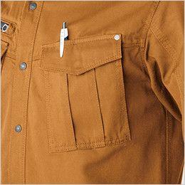 バートル 5505 綿100%チノクロス長袖シャツ(男女兼用) ペンさし