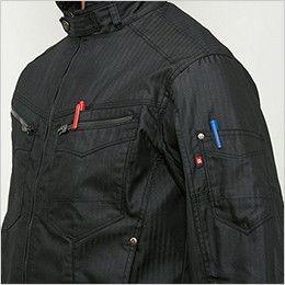 バートル 5511HB ヘリンボーン長袖ジャケット(男女兼用) ペンポケット