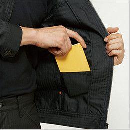 バートル 5511HB ヘリンボーン長袖ジャケット(男女兼用)  内ポケット