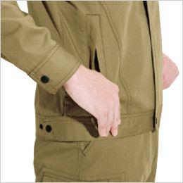 バートル 6071 制電T/Cソフトツイルジャケット(JIS T8118適合)(男女兼用)  逆玉ポケット