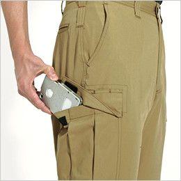 バートル 6086 [春夏用]制電T/Cライトチノカーゴパンツ(JIS T8118適合)(男女兼用)  Phone収納ポケット