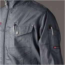 バートル 7041 [春夏用]ストレッチドビー長袖ジャケット(男女兼用)  ペンポケット